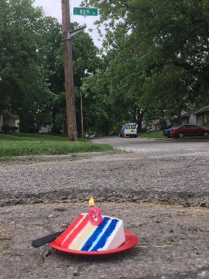Man celebrates pothole's birthday to get municipality's attention