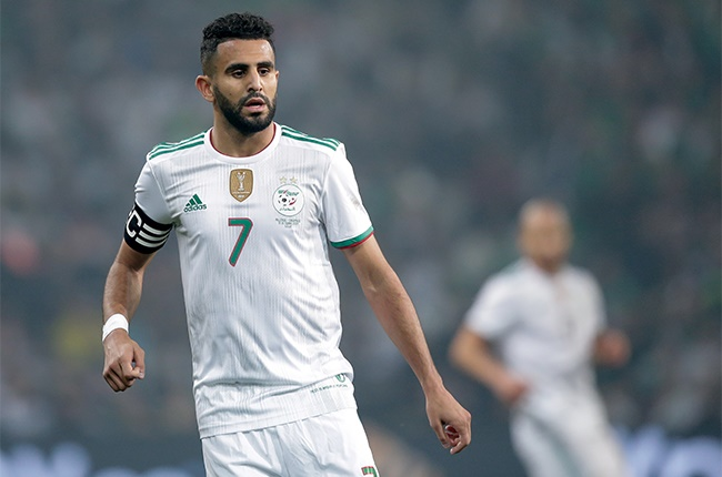 Riyad Mahrez of Algeria during the  International Friendly match between Algeria  v Colombia  at the Stade Pierre Mauroy on October 15, 2019 in Lille France.