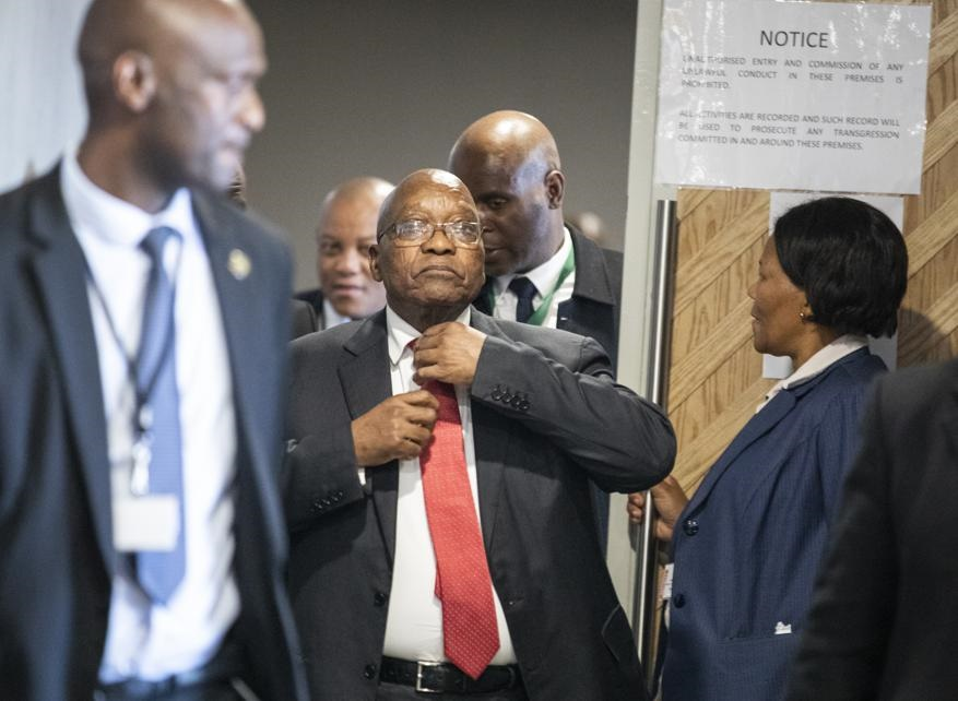 Former president Jacob Zuma at the commission of inquiry into state capture where he is testifying. Picture: AP
