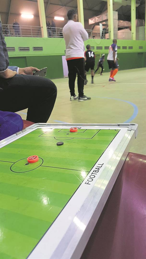 Mustangs coach Donovan Peterson looks on during a Cape Town Premier Futsal League match at Proteaville Recreational Centre.  PHOTO: Earl Haupt