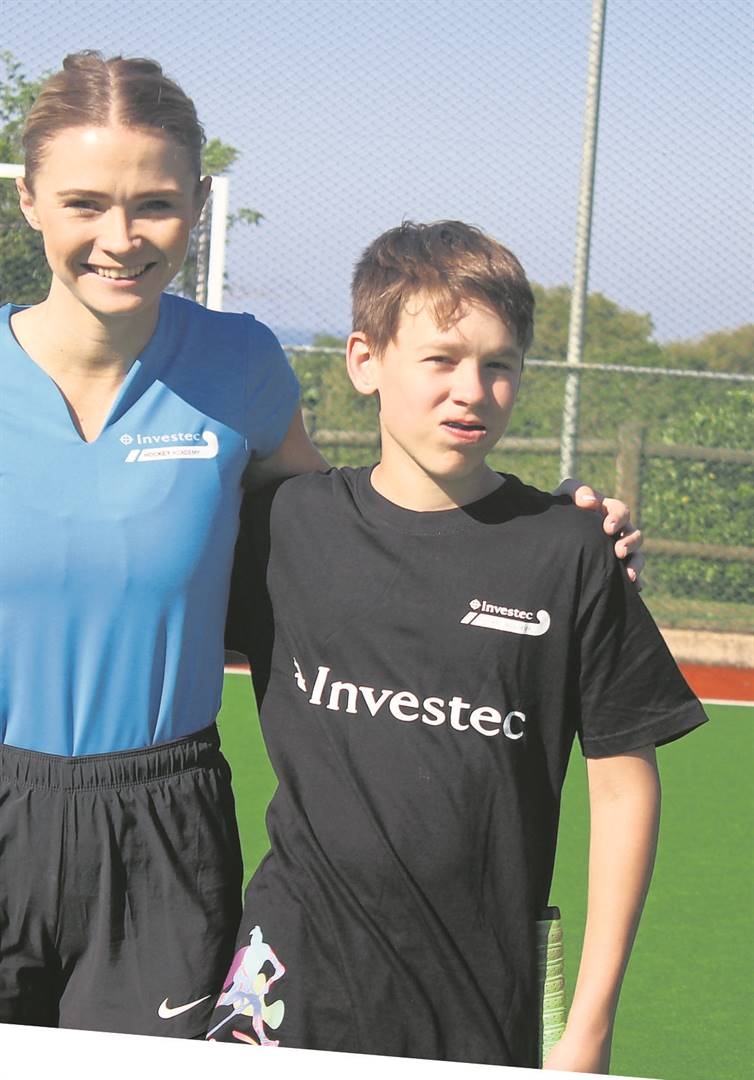 Merchiston Preparatory School pupil Adem Galassi attended the Investec Hockey Academy, offering high performance hockey training courses, in Durban recently to learn from national hockey icons including SA Women's Hockey Squad players' Donna Small and Shelley (Russell) Jones, as well as SA Men's Hockey players' Jethro Eustice and Jonty Robinson. PHOTO: supplied