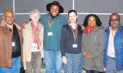 The 21st biennial international African Languages Association of Southern Africa's (Alasa) conference was hosted at the University of the Free State from Monday, 8 July, to Wednesday (10/07). From the left are Dr Nyefolo Malete (conference chairperson and the newly elected deputy chairperson of Alasa), Prof. Inge Koch (scientific editor of Alasa's journal), Dr Hleze Kunju (secretary of Alasa), Dr Hilde Gunnink (international guest), Prof. Nobuhle Hlongwa (keynote speaker) and Prof. Phalandwa Mulaudzi (former deputy chairperson of Alasa).Photo: Supplied