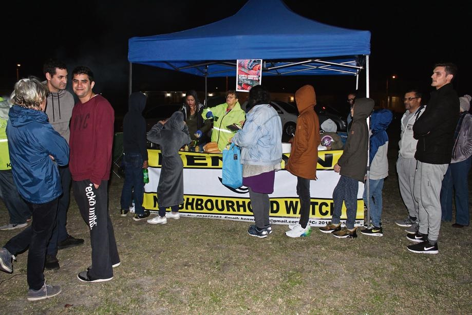 Residents came to support; some bought boerewors rolls and some made donations.