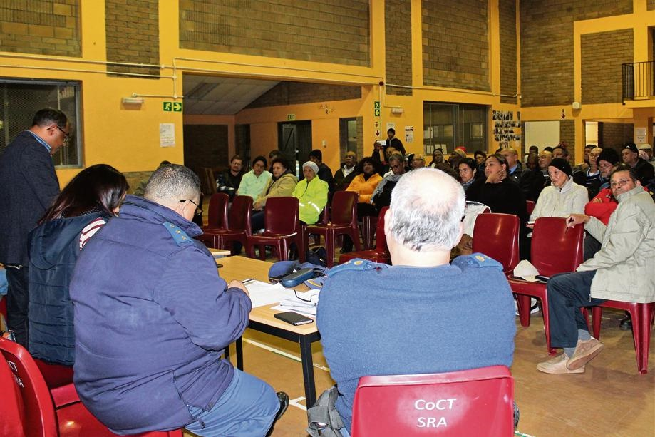 A community meeting got heated at the Bruce Road Community Hall last week.