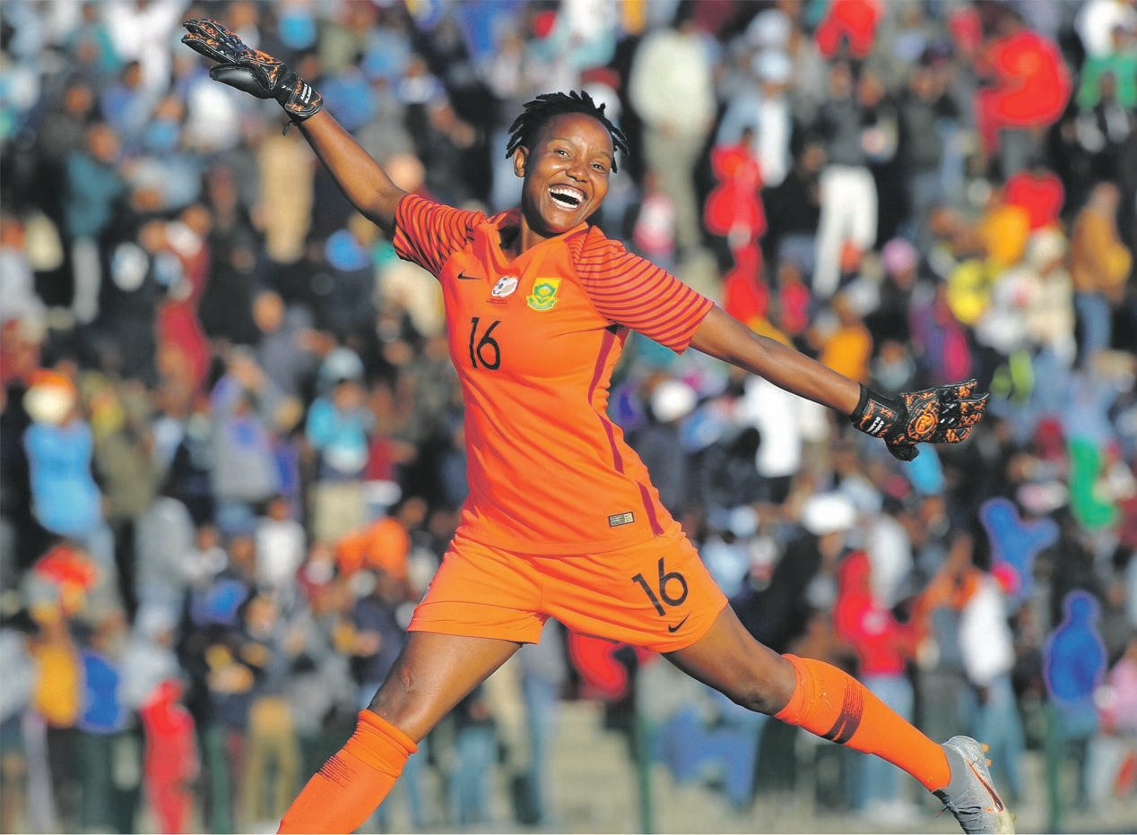 Banyana Banyana goalkeeper Andile Dlamini's presence at the Women's World Cup has boosted the coffers of her club, Sundowns Picture: Sydney Mahlangu / BackpagePix