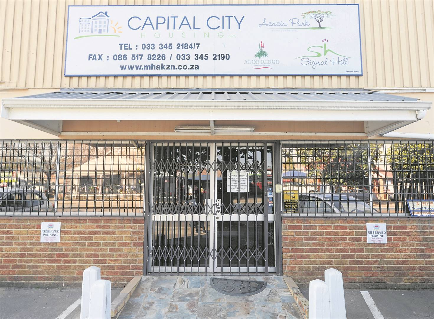 The Capital City Housing offices on Peter Kerchhoff Street remained closed for the most of the day on Tuesday.