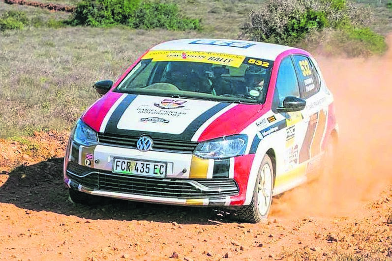 DANIEL Pienaar THS is the only school in South Africa participating in motorsport. DP racer Michael Ellis and Pierre Bakkes (navigator) will be seen in action in their VW Polo (S5 class). Photo: SUPPLIED