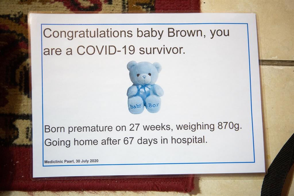 Die hospitaal het vir klein Levin dié sertifikaat