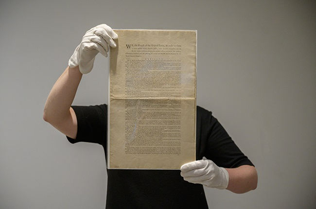 A page of the first printing of the United States