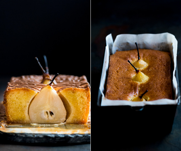 spiced pear loaf cake
