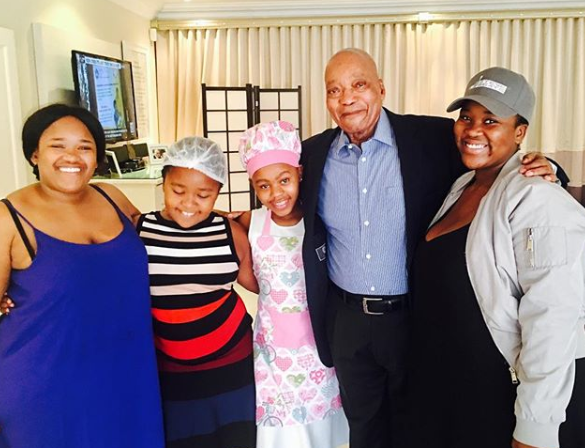Jacob Zuma with some of his children.