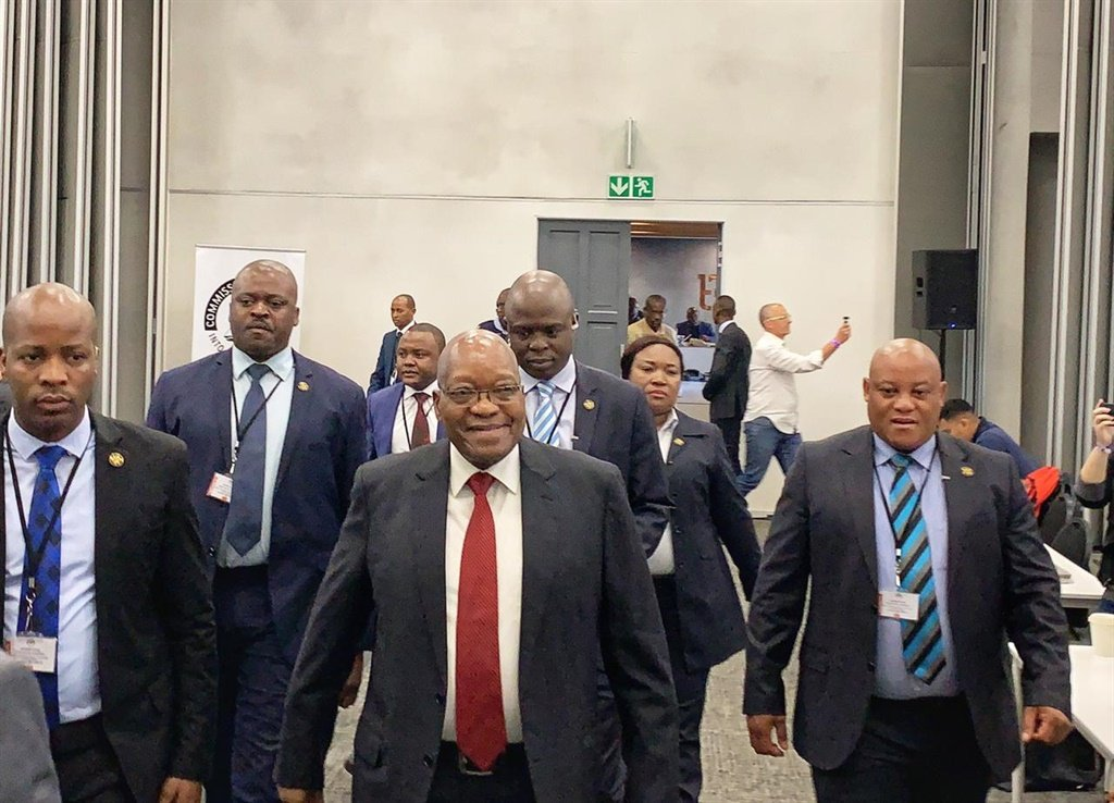 Former president Jacob Zuma at the Zondo Commission of Inquiry. (Sthembiso Lebuso, Netwerk24)