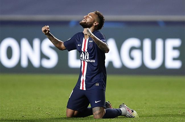 Neymar of Paris Saint-Germain celebrates.