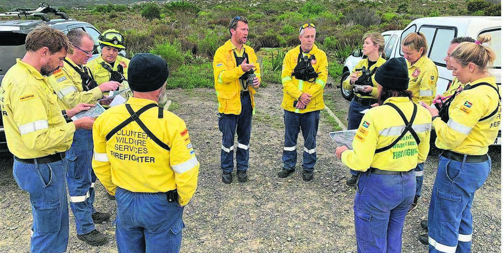 Members of Volunteer Wildfire Services are trained using the funds collected from the community.