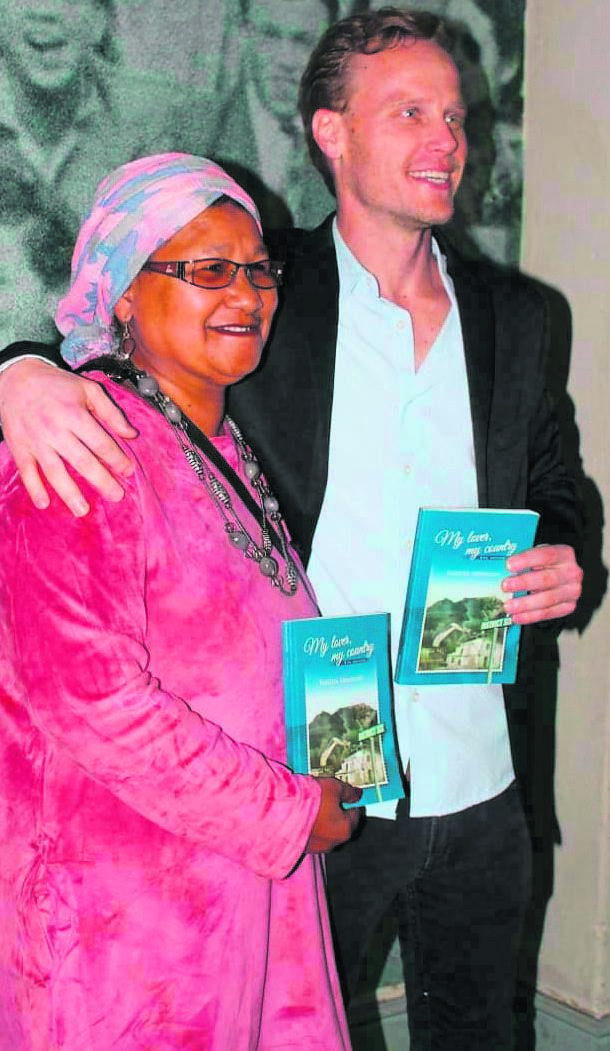 Farieda Abrahams and her adopted son, Hamza Du Plessis.