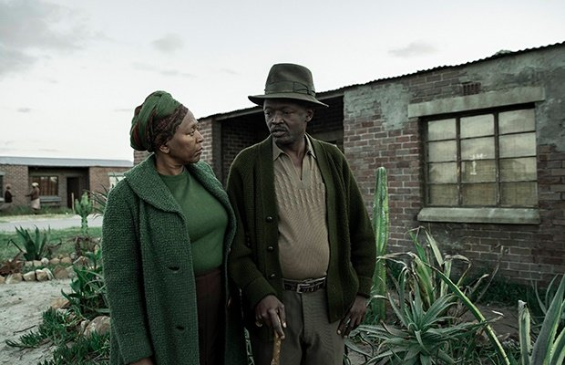 Clementine Mosimane and Chris Gxalaba in Poppie No