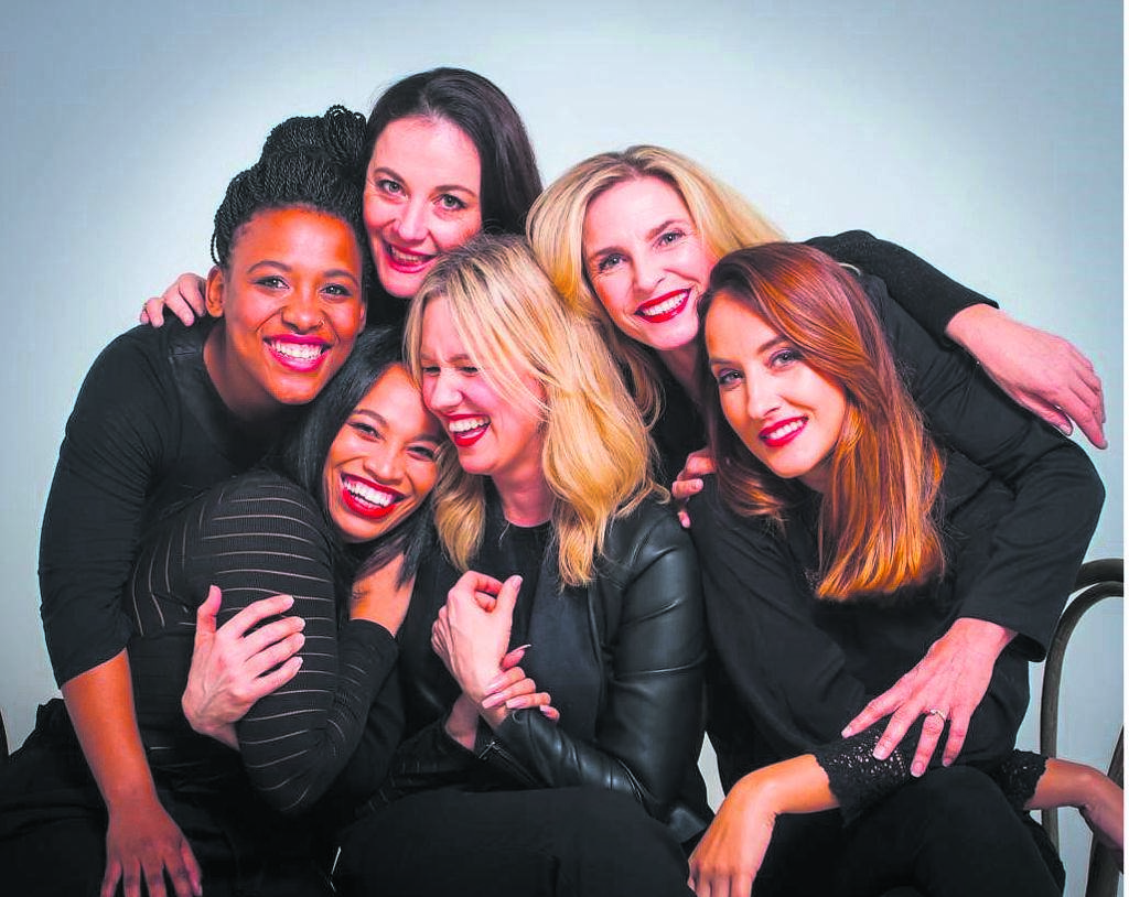 Standing from left are Sive Gubangxa, Tamryn Speirs and Sue Diepeveen. Seated are Allistine Bo Grady, Shannyn Fourie and Marlisa Doubell.