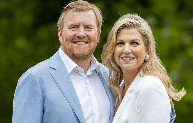 King Willem-Alexander of The Netherlands and Queen Maxima of The Netherlands at their residence Palace Huis ten Bosch on 17 July 2020 in The Hague. (Photo: Patrick van Katwijk/Getty Images)