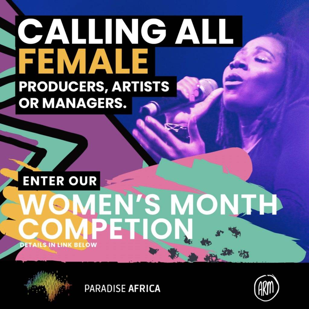 Paradise Africa Distribution along with Africa Rising Music Conference is backing five South African women artists, producers and managers as a way of marking Women's Month this August. Picture: Supplied