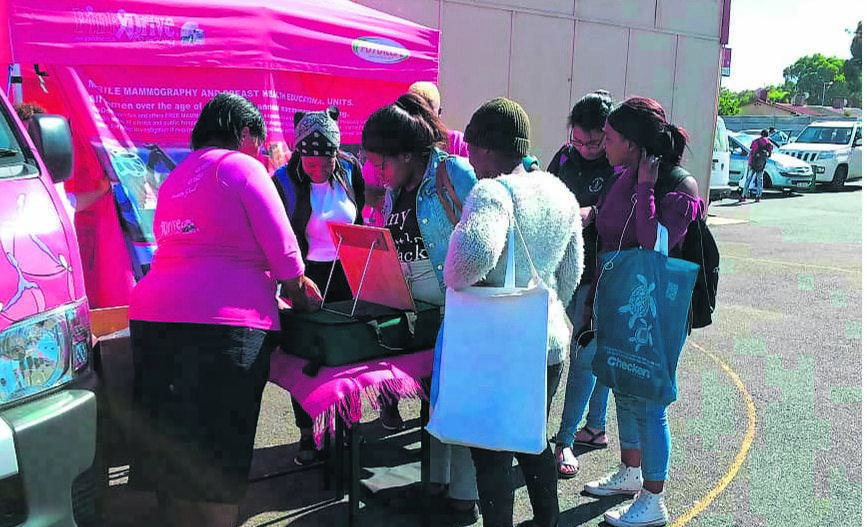 This picture was taken at a previous event of the PinkDrive, a non-profit organisation (NPO) focusing on raising awareness about gender-related cancer. It is based at 39 Belgravia Road, in the Imperial Building.