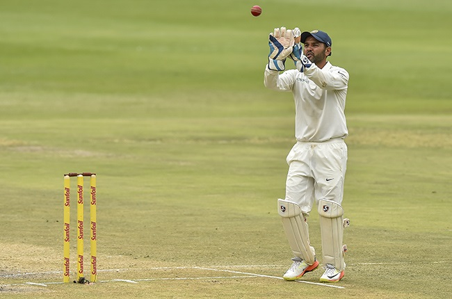 India's Parthiv Patel in action against South Africa in a Test at the Wanderers on 27 January 2018.