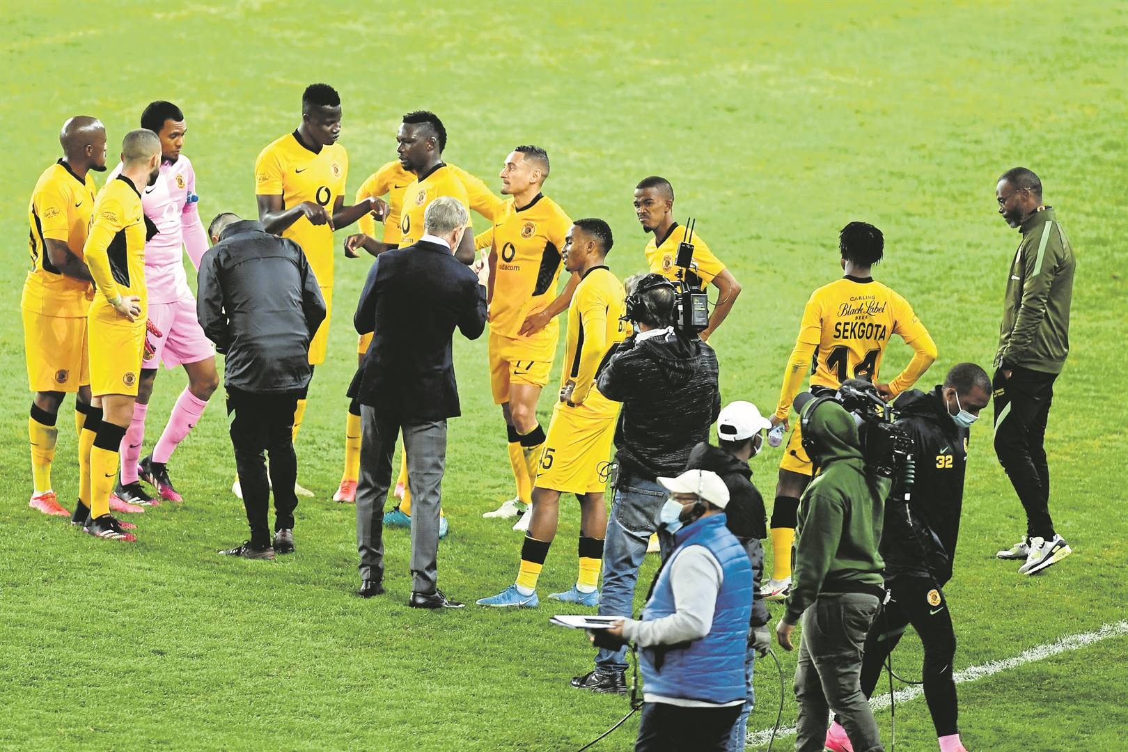 Kaizer Chiefs coach Stuart Baxter and his players have lost back-to-back league matches. Photo: Lefty Shivambu / Gallo Images