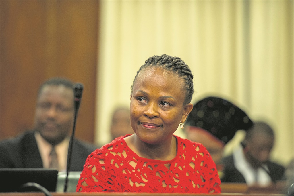 The Portfolio Committee on Justice and Correctional Services receives a briefing from the Public Protector, Busisiwe Mkhwebane, on her department's performance in 2015/16. (Photo: Jaco Marais)