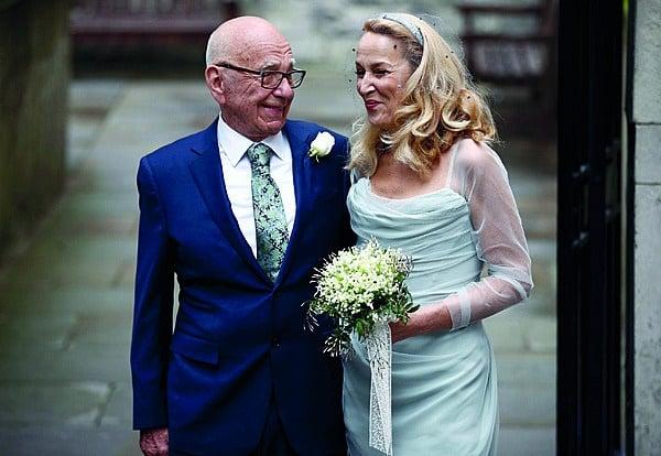 Rupert Murdoch is in 2016 met sy vierde vrou, Jerr