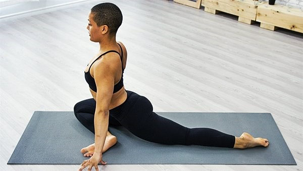 Did you know the pigeon pose can help with back pa