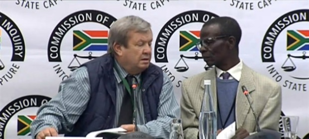 <p>Basson is providing his testimony in Afrikaans, with the help of a translator. He confirms that he lives in Vrede, and now also lists other properties and businesses he owns.&nbsp;</p><p></p>