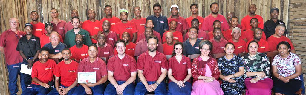 The staff of Timbacore in Stikland.