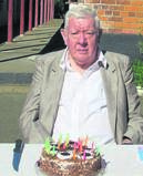 Former warrant officer Herman de Bruincelebrating his 73rd birthday with old colleagues.PHOTO: supplied