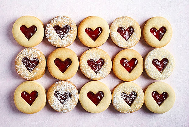 valentines day heart cookies