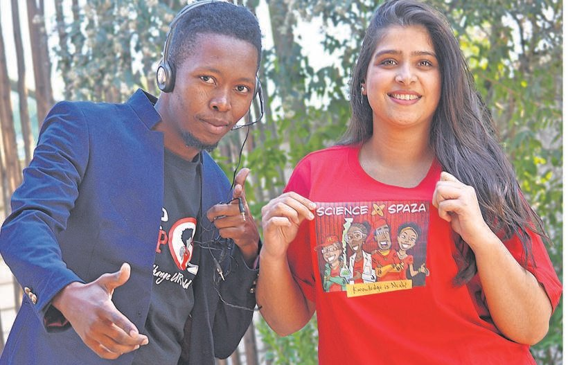 Jive Media Africa will be using hip hop to advocate for climate change during a performance next Friday. Their efforts are part of National Science Week. Pictured are Nico Mkhohlwa and Laila Hansrod. PHOTO: moeketsi mamane