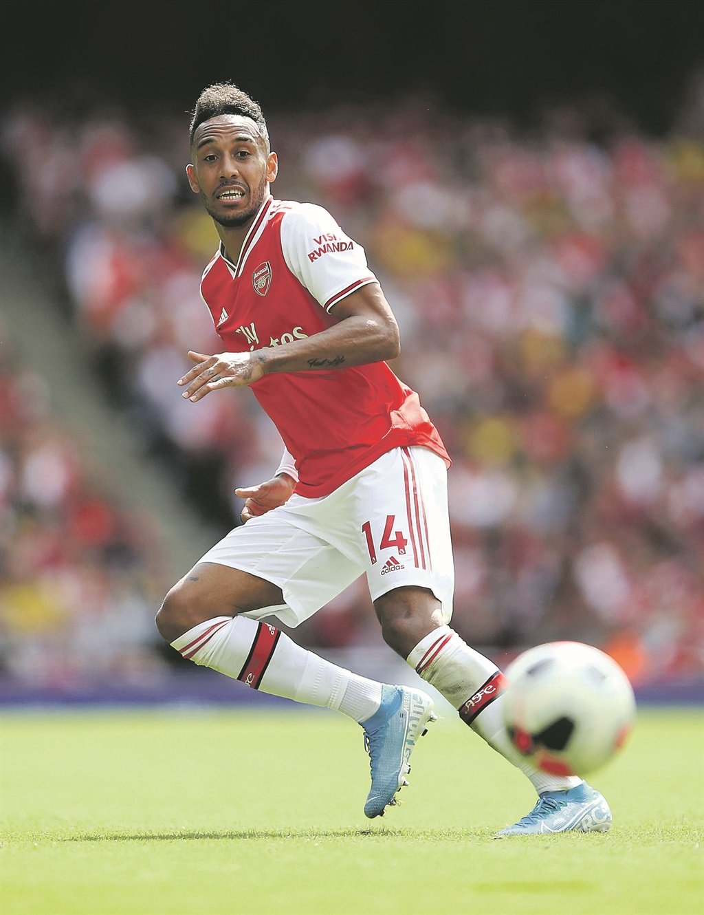 Pierre-Emerick Aubameyang will carry Arsenal's hopes in the London derby against Spurs this afternoon   Picture: Julian Finney / Getty Images