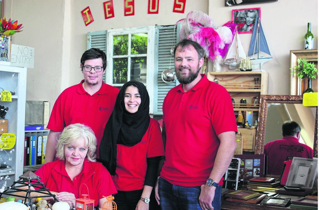 =The team at Finders Keepers are (from left) Belinda Vermaak (owner), David Pieterse (assistant), Thaakira Abdollatief (assistant) and Sheldon Vermaak (owner).             Photo:SUPPLIED