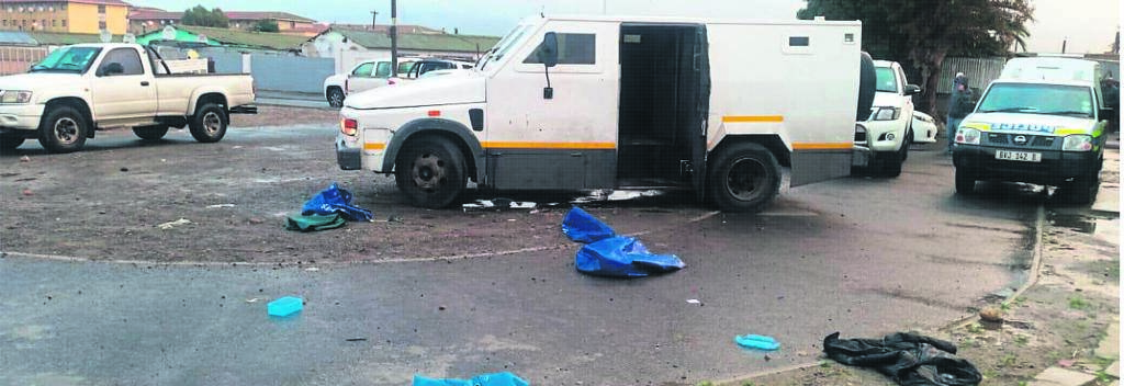 A cash-in-transit vehicle was found in Langa last week.