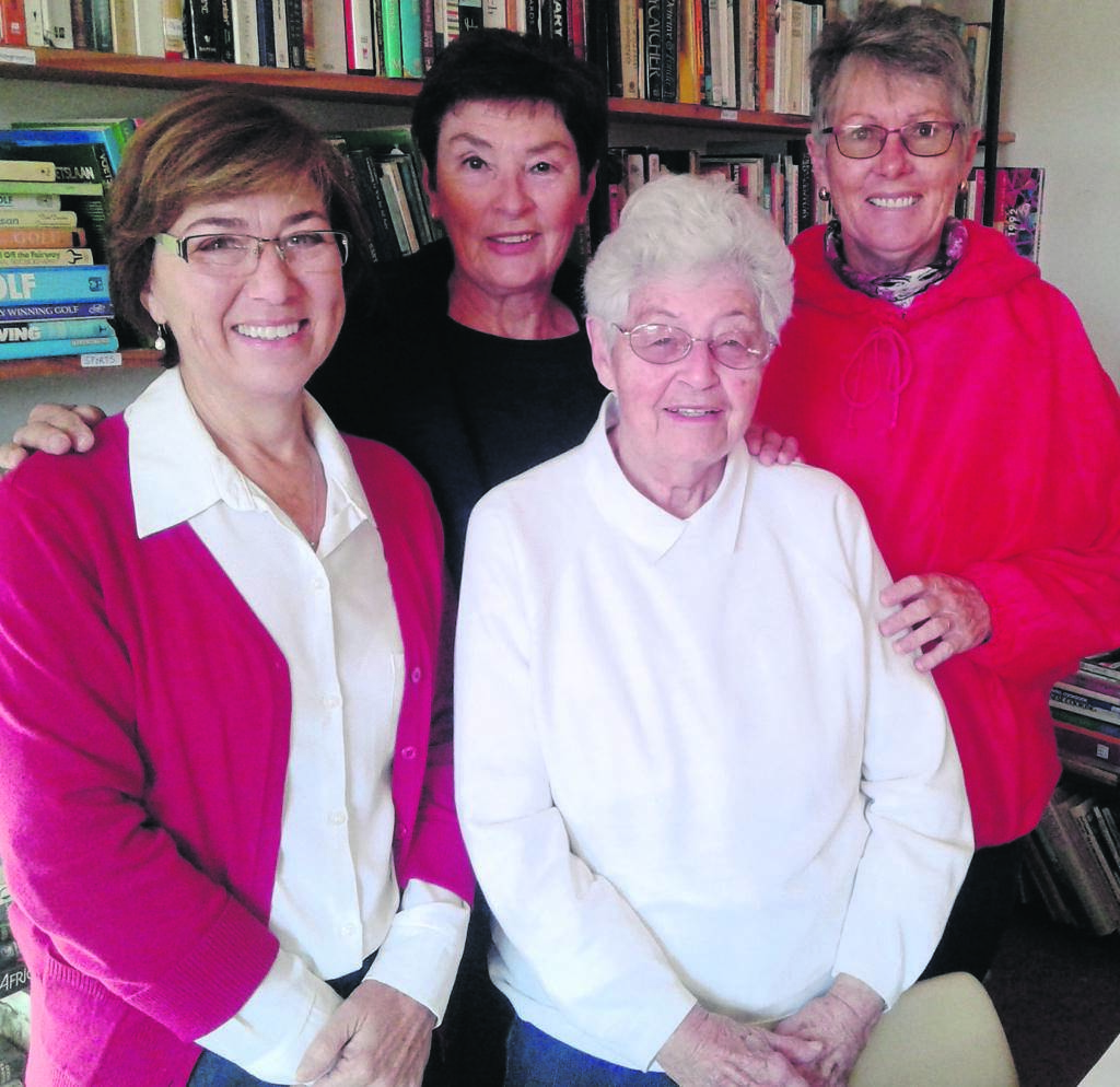 Connie Knoetze (third from left) resigned as the Chairperson of The Friends of the Library after serving for seven years on the committee. René Kruger (left) was appointed as the new Chairperson. She looks forward to her term in the position. Kruger will be assisted by Secretary Schwind (second from left) and Treasurer Louise Paton (right). The Friends of the Jeffreys Bay Library is a non-profit organisation that collects and sells books from their depot: The Book End at the Newton Hall. All profits are used to buy new books for the library. They spend approximately R3 000 per month on new books. All books donations are welcome.    Photo:CINDY LIEBENBERG