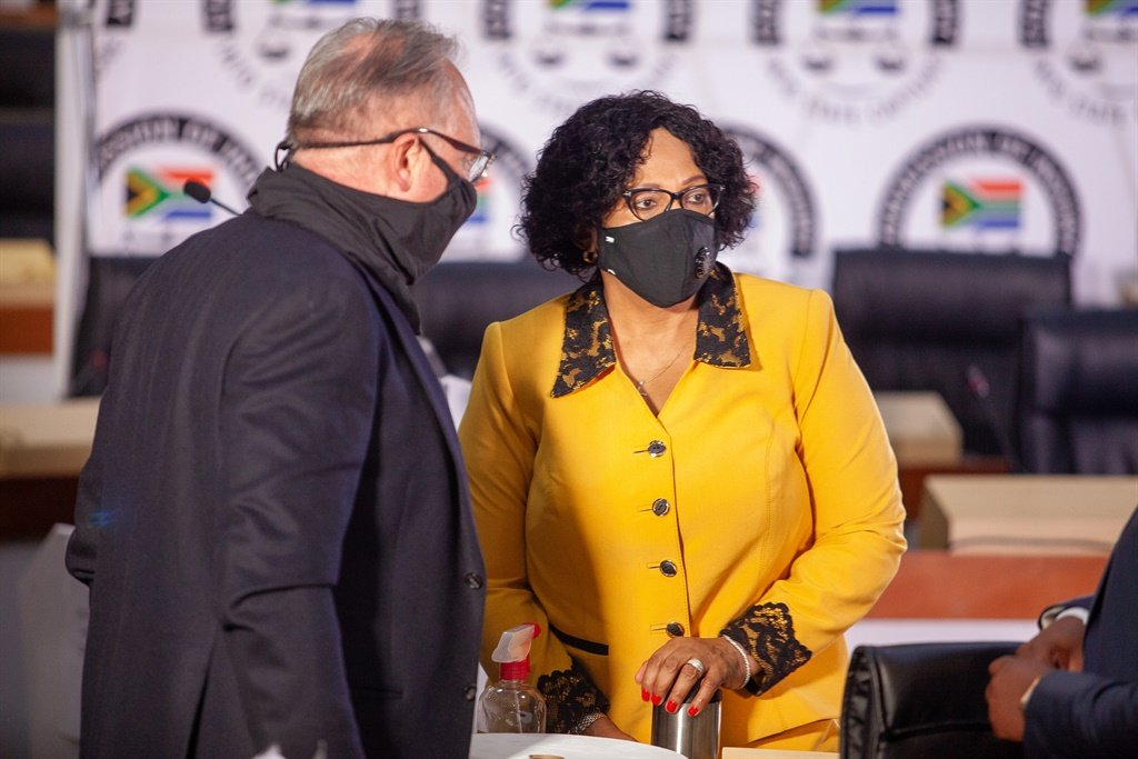 Former minister Nomvula Mokonyane at the State Capture inquiry.
