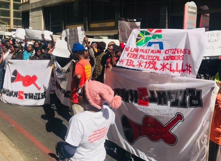 Across the country South Africans are demanding the right to be able to recall ward councillors who don't perform their jobs well. (Kimberly Mutandiro/GroundUp)