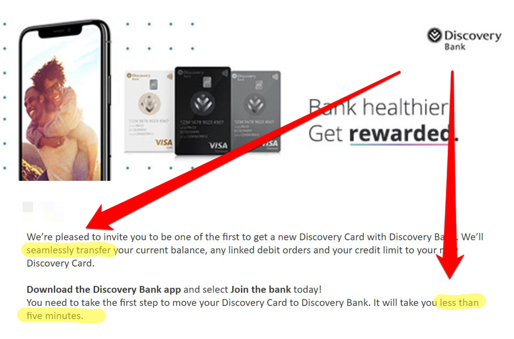 Discovery Bank app