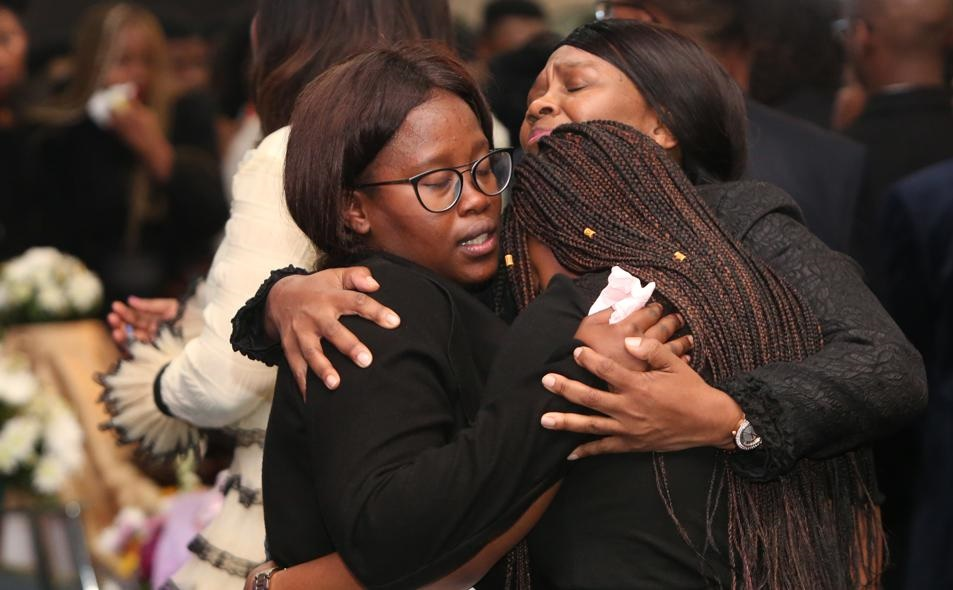 Mourners at Uyinene's funeral service couldn't hold back their emotions as they said goodbye to the young woman who was described as a fighter. Picture: City Press