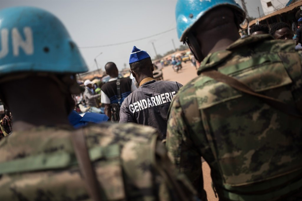 The Gendarmerie patrols with the United Nations Multidimensional Integrated Stabilization Mission in the Central African Republic