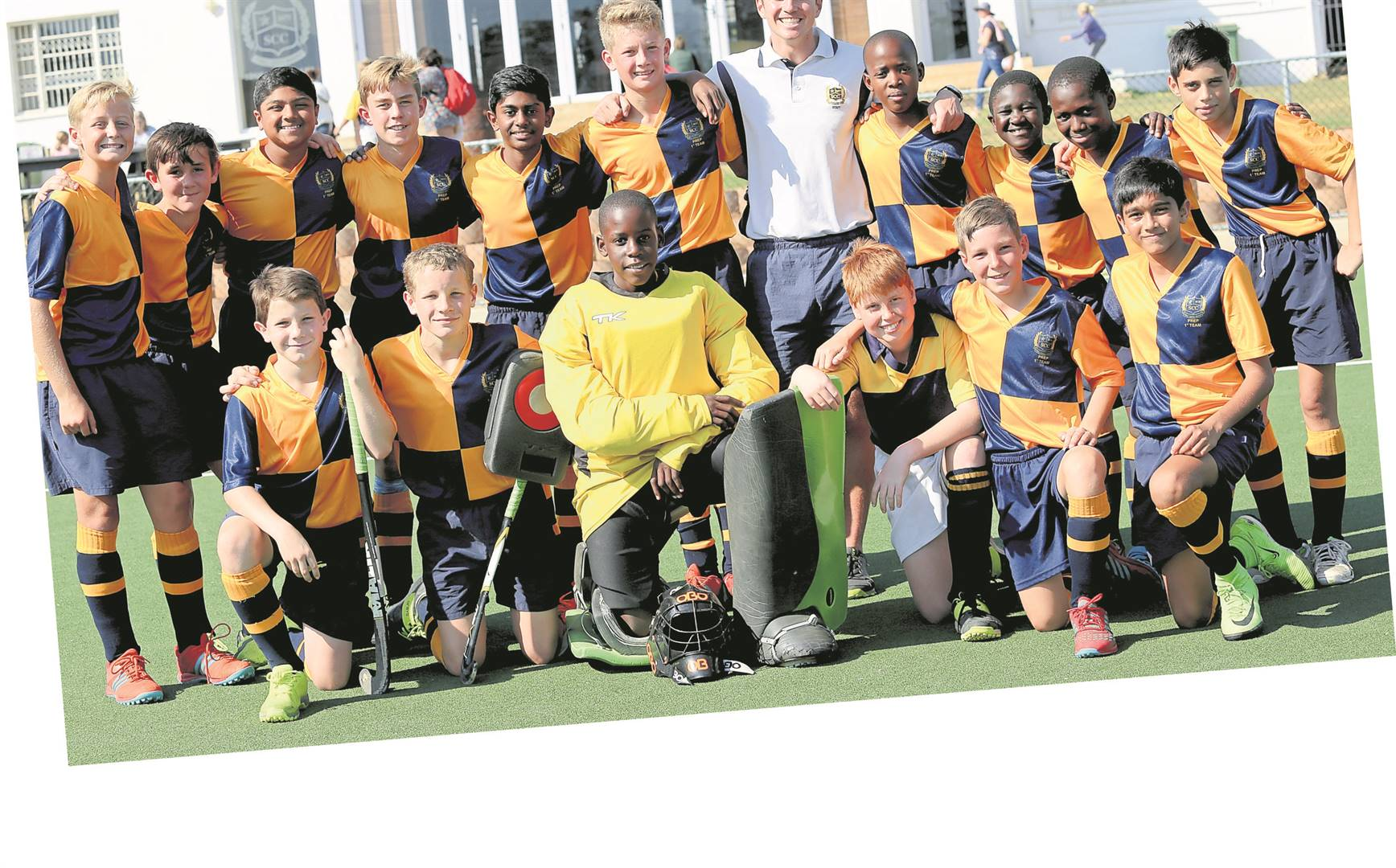 It was all smiles from our Prep 1st Hockey team after a successful day of hockey against our friendly rivals, Merchiston.Pictured: The St Charles College Prep 1st Hockey team.PHOTO: supplied