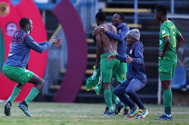 Baroka FC players celebrate during the Absa Premiership match against Kaizer Chiefs at Bidvest Stadium in Johannesburg on 5 September 2020.