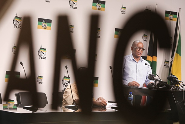 ANC General Secretary Ace Magashule addresses the media on the outcomes of a national working committee (NWC) meeting at the partys headquarters at Luthuli House on February 26, 2019 in Johannesburg, South Africa. (Photo by Gallo Images / Sowetan / Alaister Russell)