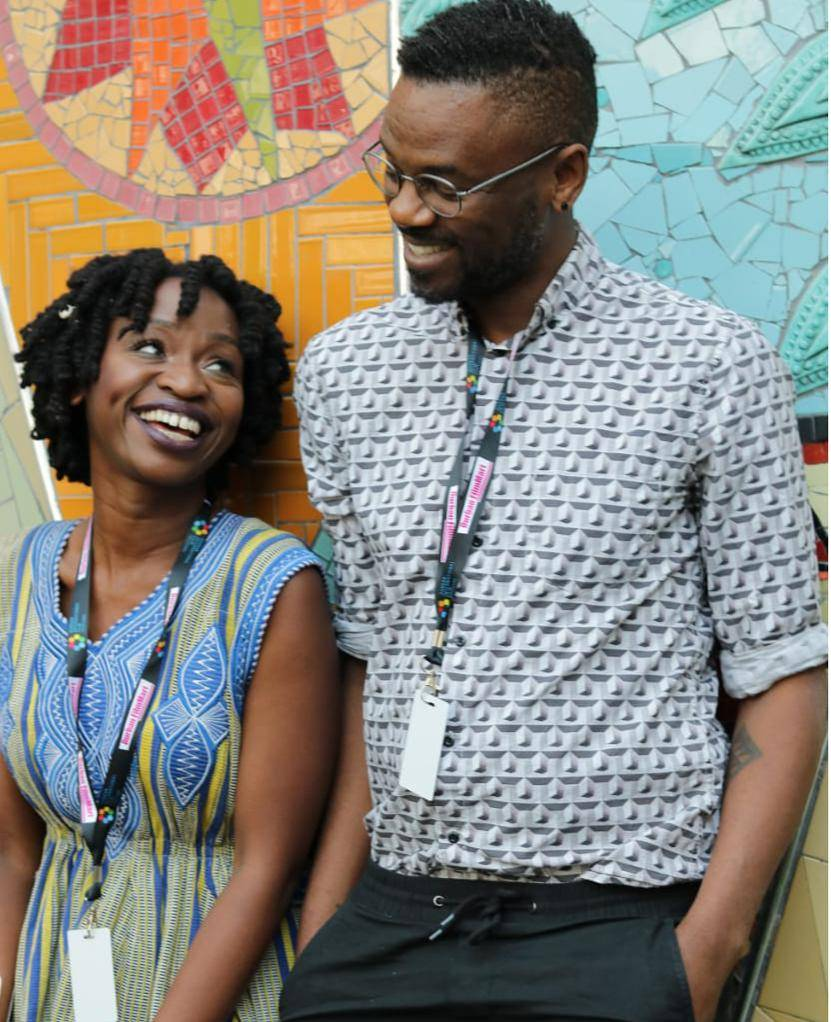 Tiny Mungwe and Themba Bhebhe, the organisers of Engage @ DFM, which sought to offer a newfuture forAfrican film.