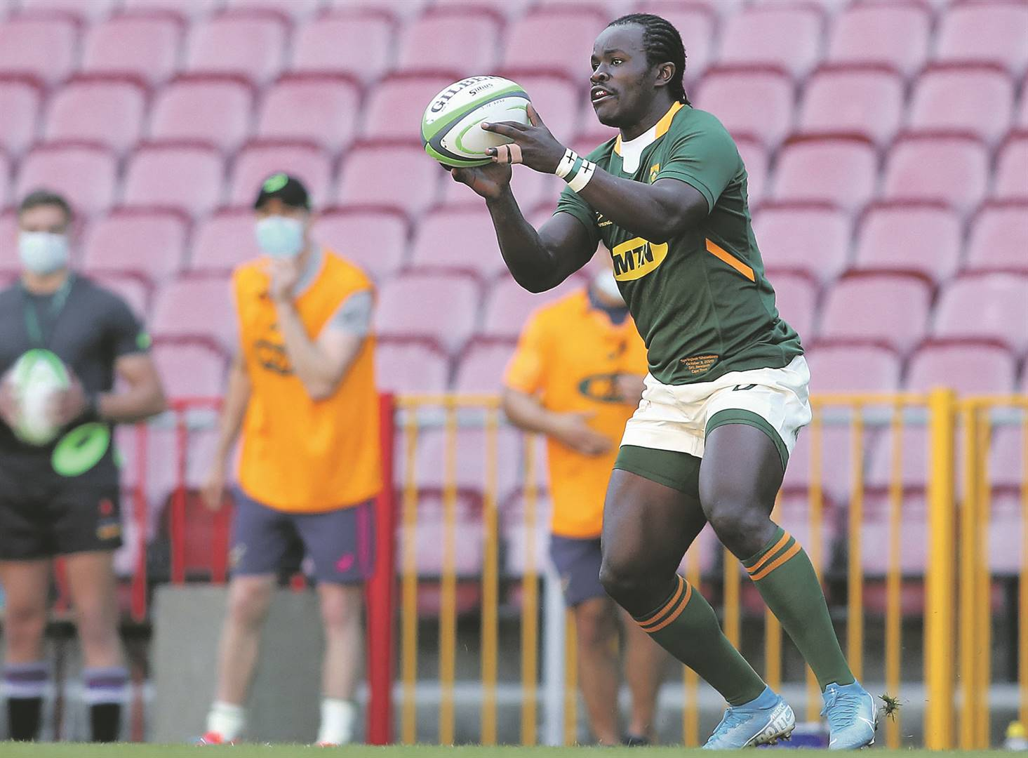 Yaw Penxe's great performance for the Springbok Green during the Castle Lager Springbok Showdown match against the Springbok Gold earned him a contract at the Sharks. Picture: Shaun Roy / Gallo Images