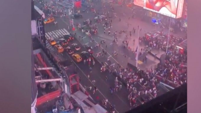 WATCH | Motorcycle backfiring causes panic in Times Square | News24