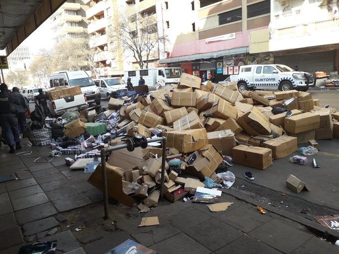 Confiscated counterfeit goods in Johannesburg. (Ntwaagae Seleka, News24)